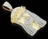 10K Gold 0.30CT Diamond Micro Jesus Pendant