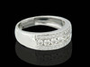 14K White Gold 1.05CT Diamonds Men's Band