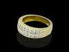 14K Gold 1.15CT Diamonds 2-Rows Men's Band