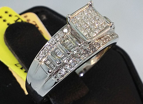 10K White Gold 0.51CT Ladies Diamond Engagement Ring