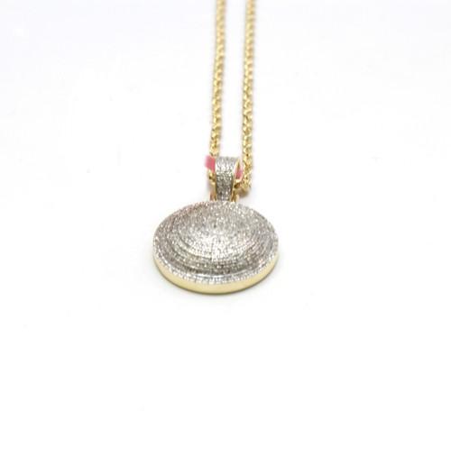 10K Gold 0.64 Ct Round Diamond Pendant