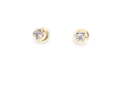 10K Gold 0.10CT Diamonds Earring