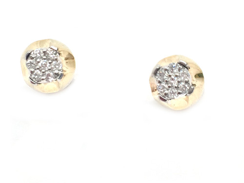 10K Gold 0.16CT Diamonds Earrings