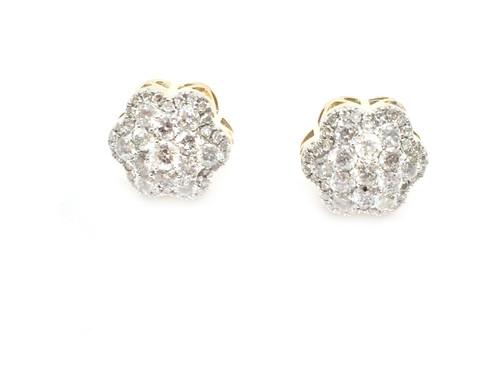 10K Gold 1Ct Diamond Earrings