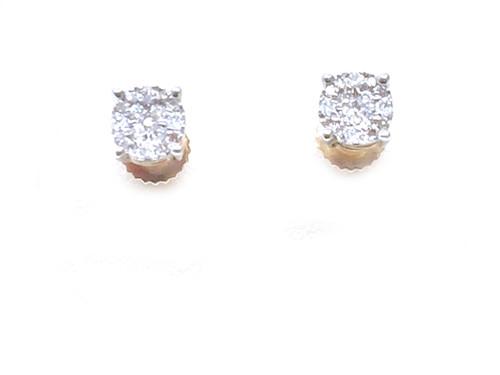 10K Gold 0.15CT Dimaond Earrings