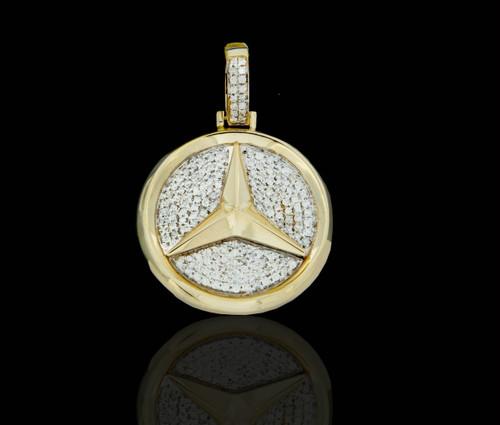 10k gold diamonds ankh dogtag pendant king johnny for 14k gold mercedes benz pendant