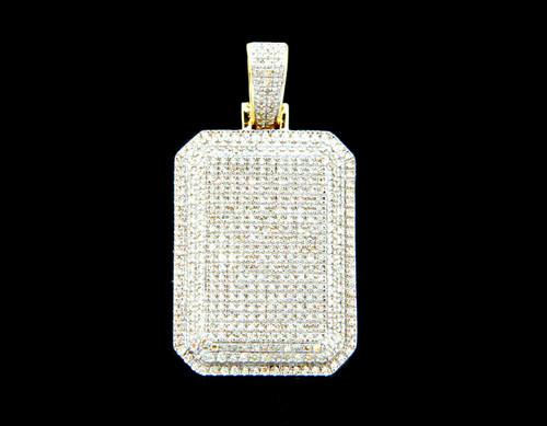 10K Gold 0.78CT Diamonds Ice Block Box Pendant