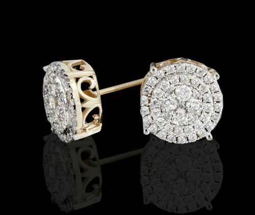 14K Gold 1.25CT Diamonds Earrings