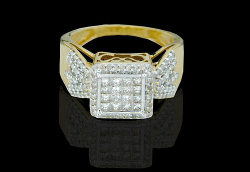 14K Gold 0.91CT Diamonds Ladies Engagement Ring