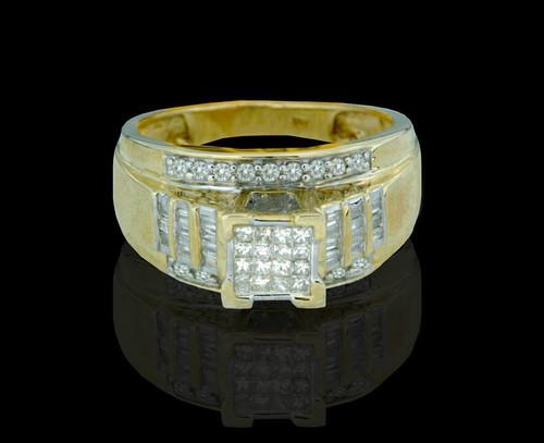 10K Gold 0.60CT Diamonds Ladies Engagement Ring