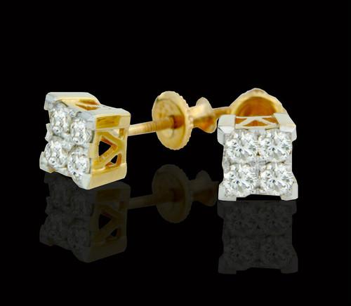 14K Gold 0.50CT Diamonds Earrings