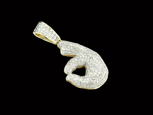 "10K Gold 0.31CT Diamonds ""OK"" Pendant"