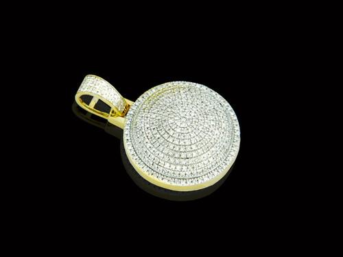 10K Gold 0.66CT Diamonds Round Pendant