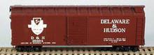 BOWSER HO 40 Foot Box Cars (Single Door) KIT  D & H  3-1110  OL 1