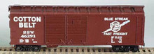 Bowser HO 40 Foot Box Cars (Double Door) KIT Cotton Belt  3-1204  OL 1