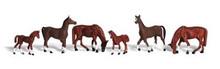 HO Scale woodland scenics Chestnut Horses 1842  OL 1