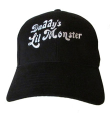"""Harley Quinn """"Daddy's Lil Monster"""" Suicide Squad Embroidered Baseball Hat - Cap"""