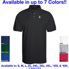 Star Trek Classic Logo Embroidered Adult Polo Shirt