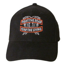 """The Walking Dead """"Fight the Dead - Fear the Living"""" Embroidered Baseball Hat - Cap (Daryl Dixon - Wings)"""