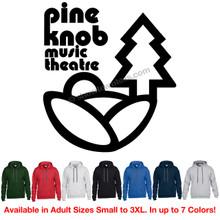 Pine Knob Music Theatre Classic Logo Hoodie (Retro Detroit DTE Michigan Rock Concert)