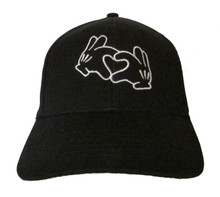 Mickey Mouse Hands as Heart (Love/Peace) Embroidered Baseball Hat - Cap (Disney)