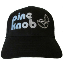 Pine Knob Music Theatre Logo Embroidered Baseball Hat - Cap (Retro Detroit DTE Michigan Rock Concert Theater)