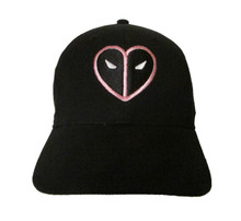 Deadpool Pink Heart for Fuck Breast Cancer Logo Embroidered Baseball Hat - Cap