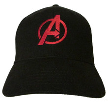 Avengers Movie Comic Logo #1 in RED Embroidered Baseball Hat - Cap (Infinity War)