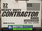 Contractor bags 3 Mil Heavy Duty 32 count #HK42WC032B-WHITTCO REPLACEMENTS