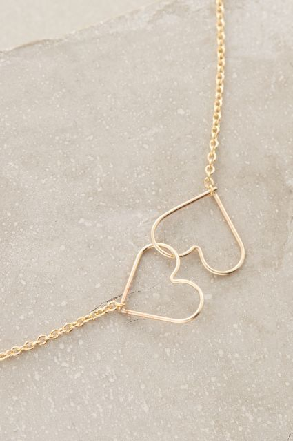 Kissing Heart Necklace