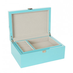 Blue Jewellery Box with Tray