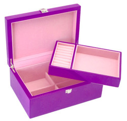 Purple Jewellery Box with Tray