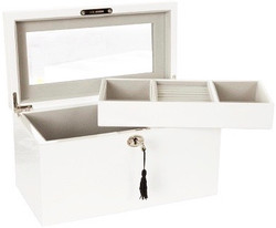 Deep White Jewellery Box