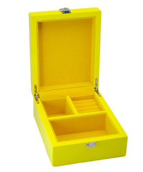 Small Yellow Jewellery Box