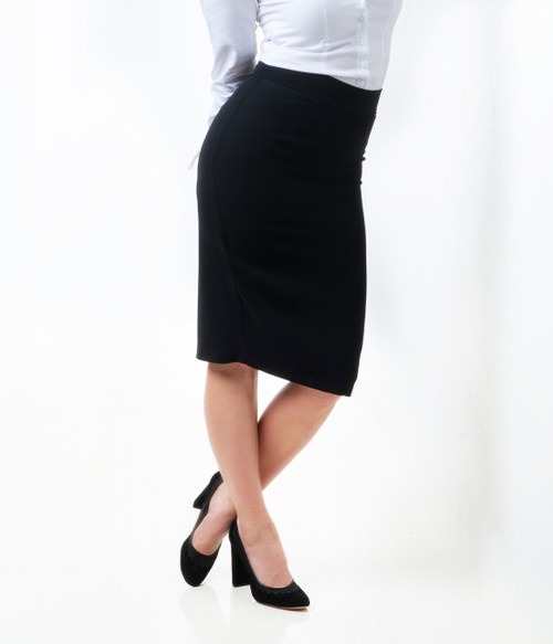 Parisian Classic Black Pencil Skirt
