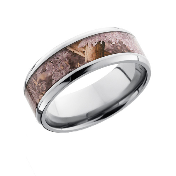 Beveled Edge Camo Ring