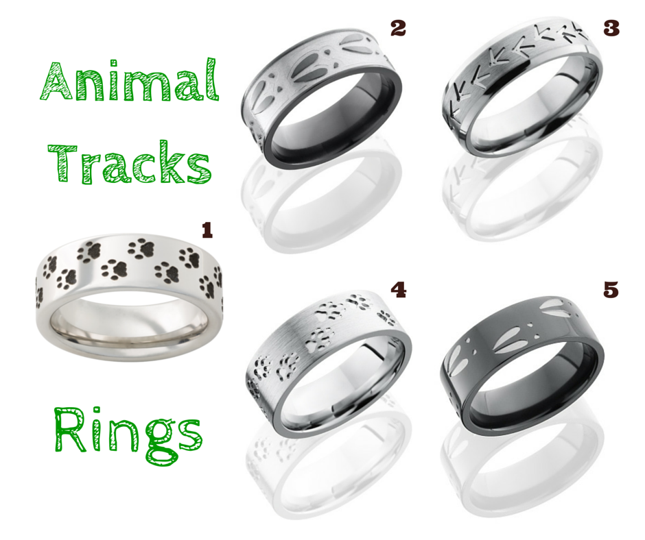 Animal Tracks Rings