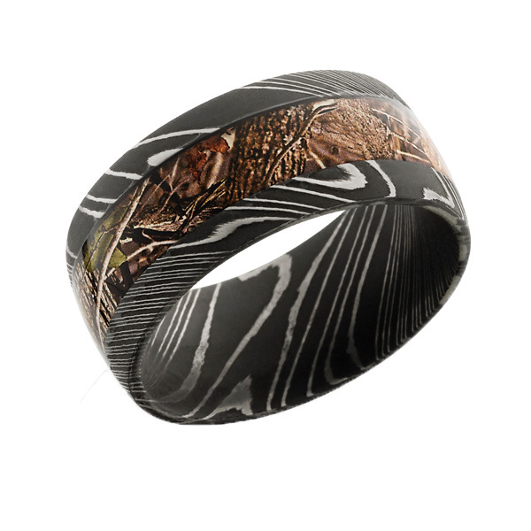 Damascus Steel Camo Ring