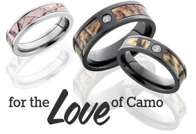 for the love of camo wedding rings_01 - Military Wedding Rings