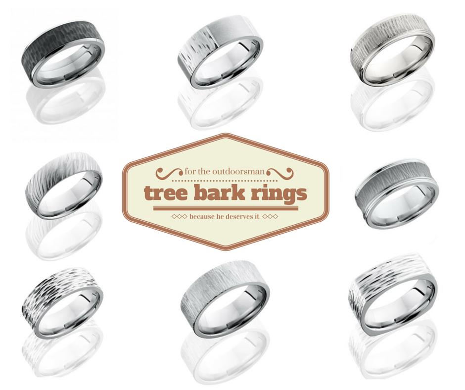 tree bark rings - Country Wedding Rings