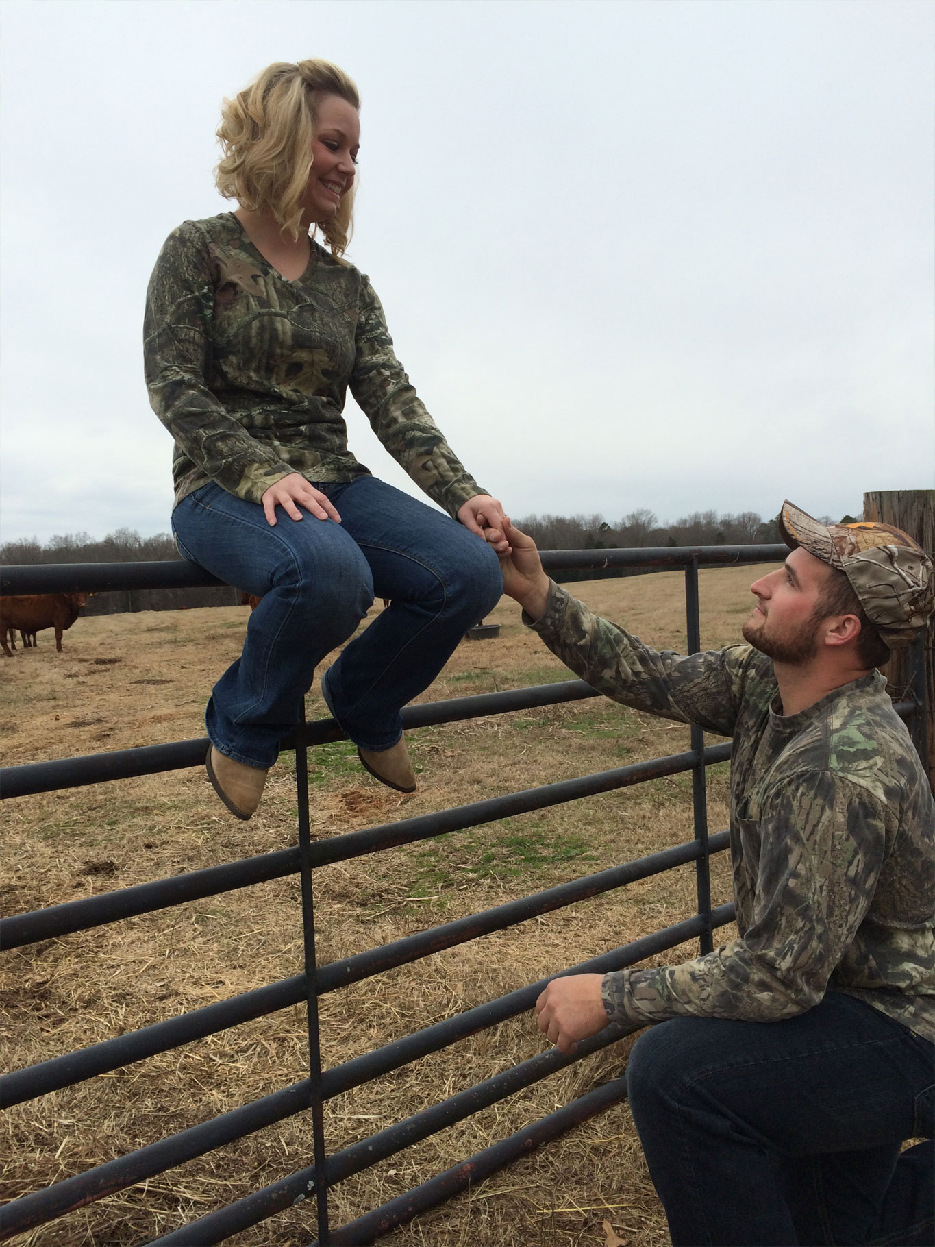 The Hay Bales, And Lauren's Engagement Ring On Top Of A Bullet Shell  Gave That Added Touch Of Country Pride That's Definitely In Their Blood!