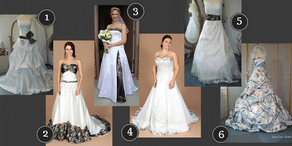 In The First Picture Youll See White Wedding Dresses With Just A Hint Of Camo