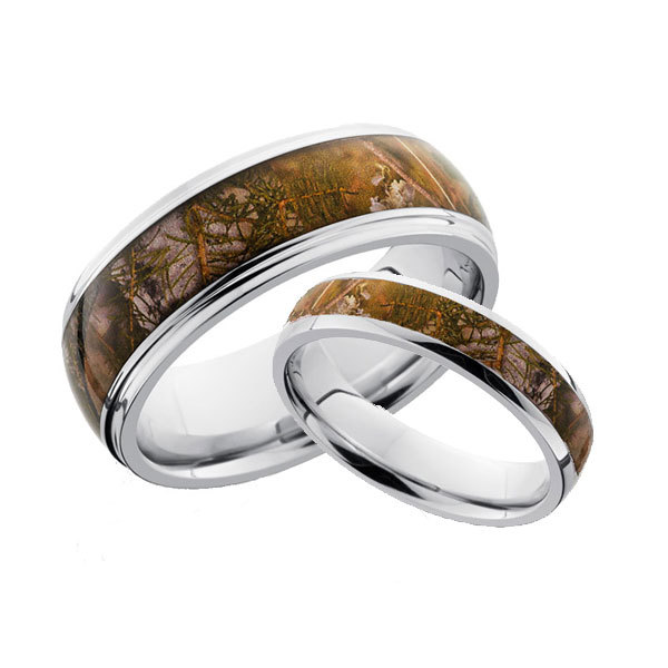 his and hers camouflage ring set - Camouflage Wedding Ring Sets