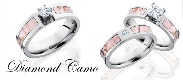 Pink Diamond Camo Rings