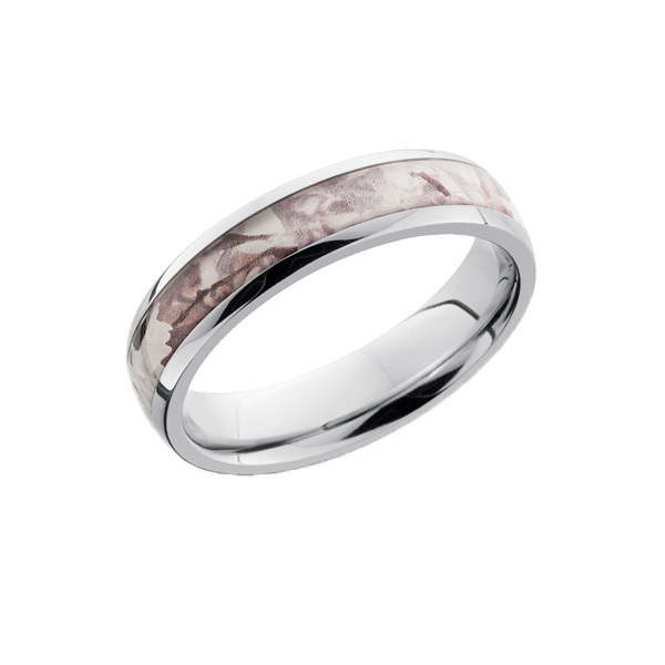 Snow Camo Ring for Her - Domed 5mm