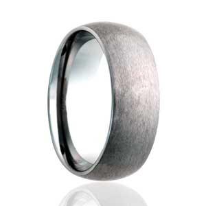 8mm Dome Satin Finish Ring