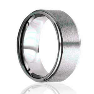 Flat, Step Edge, Satin Top Ring