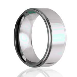8mm Flat, Step Edge, Polished Ring