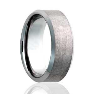8mm Beveled Satin Top Ring