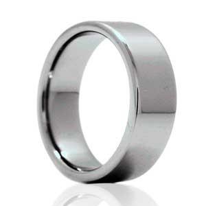 8mm Flat Pipe Cut Vitalium Ring